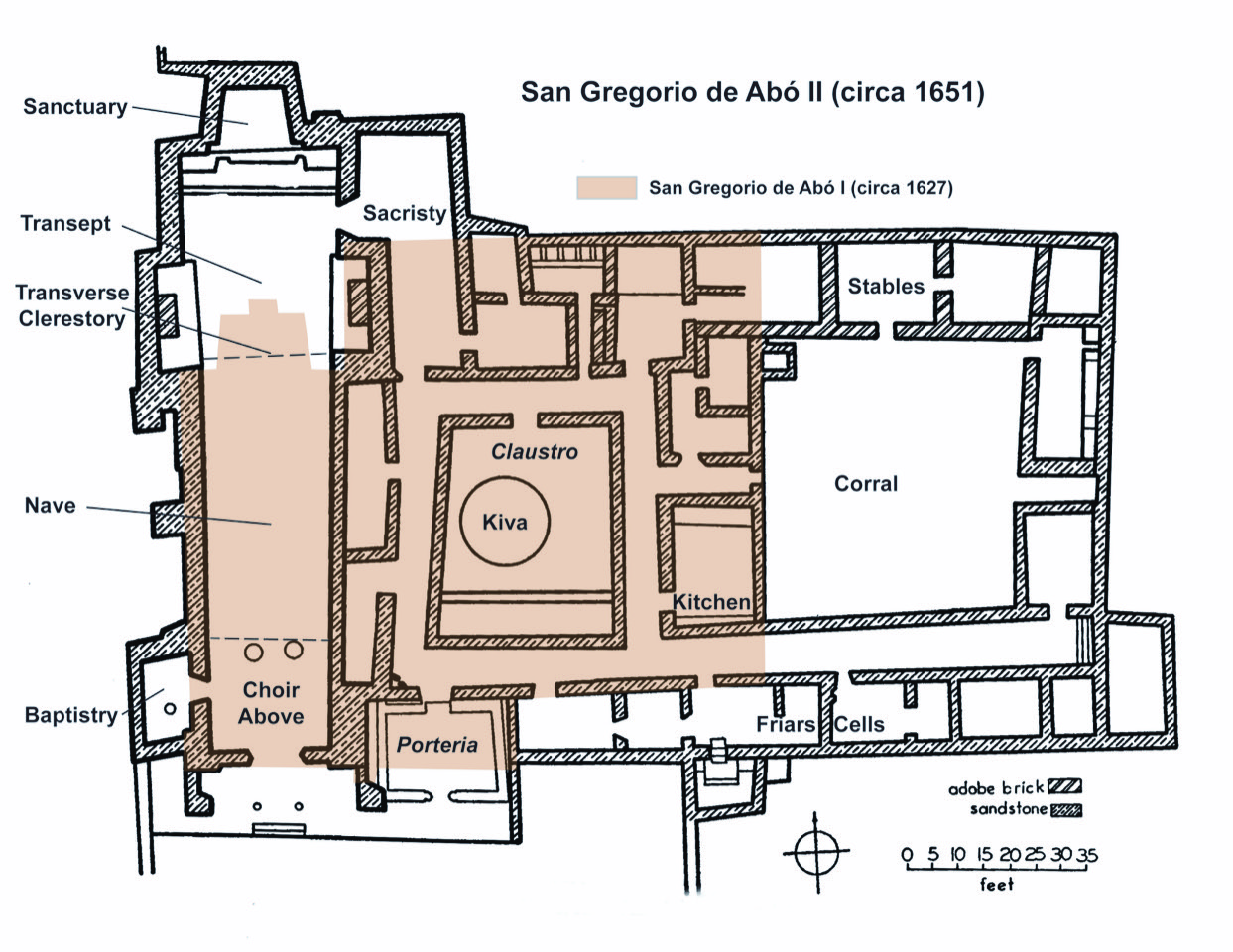 Abó #3 Plan with 2 churches
